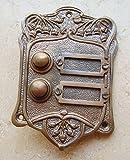 Graf von Gerlitzen Antik Messing Klingel 2 Jugendstil Klingelschild Klingelplatte K15A-Tina
