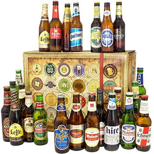 24x Bier aus aller Welt | Bier Geschenk Set | Geburtstagsgeschenk für Ihn
