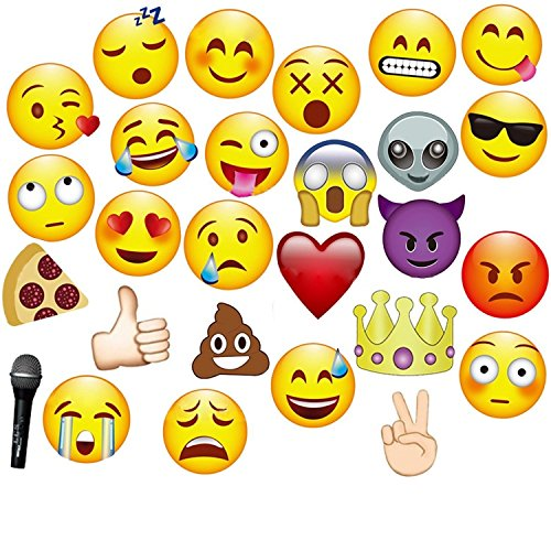 JZK® 27 x Emoji Papier Foto Requisiten Verkleidung auf Stick Photobooth Photo Booth Props Set für Kinder & Erwachsene, Fotoaccessoires für Hochzeit Party Geburtstag Festival (27 (Masken Weihnachten)