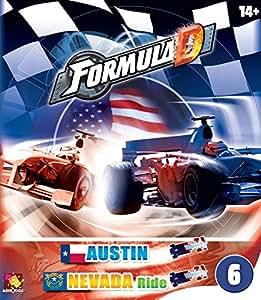Asmodee - FDC6 - Jeu de Stratégie - Formula D - Circuits Austin Et Nevada Ride