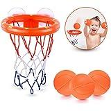 Biuday Jouets pour Le Bain Amusants pour Le bébé, Jouets de Basket-Ball, cerceaux, Jeux d'eau Jouets de Bain