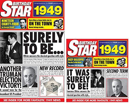 für Jahrgang1949,DVD von Birthday Star, Sammel-CD und Grußkarte ()