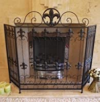 Black Antique Vintage Fireplace Fire Guard Surround Spark Mesh Nursery Screen E