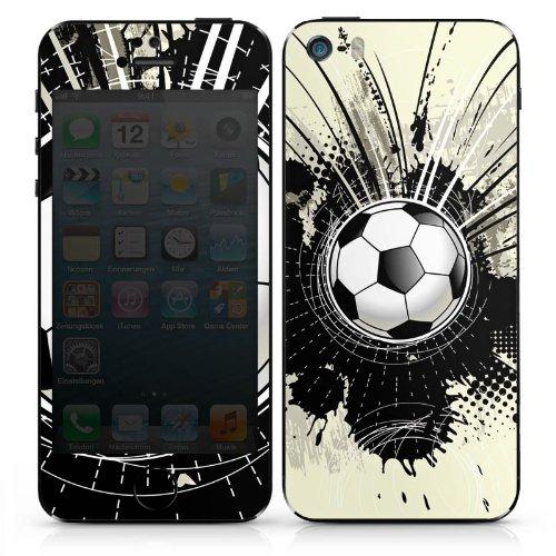 Apple iPhone 5c Case Skin Sticker aus Vinyl-Folie Aufkleber Fußball Sport Klecks DesignSkins® glänzend