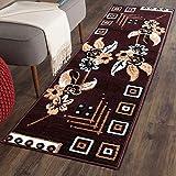 The Home Talk Multicolor Classy Modern Look Carpet ,( 50 X 150 Cm ), Vascose,(Brown)