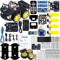 ELEGOO UNO Proyecto Kit de Coche Robot Inteligente V3.0 con UNO R3, Módulo de Seguimiento de Línea, Sensor Ultrasónico, Modulo Inalámbrico, Kit Robótico Coche Educativo y Stem de Juguete para Niño