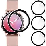 CAVN Compatibel met Samsung Galaxy Watch Active 2 40mm Screen Protector, [3 Pack] 3D Volledige dekking Gebogen Anti Scratch S