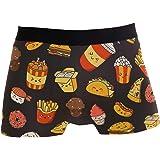 JIRT Slip da Uomo Boxer Cute Cartoon Food Burger Intimo Maschile Tronchi Elasticizzati Traspiranti Bulge Pouch Soft Underpant