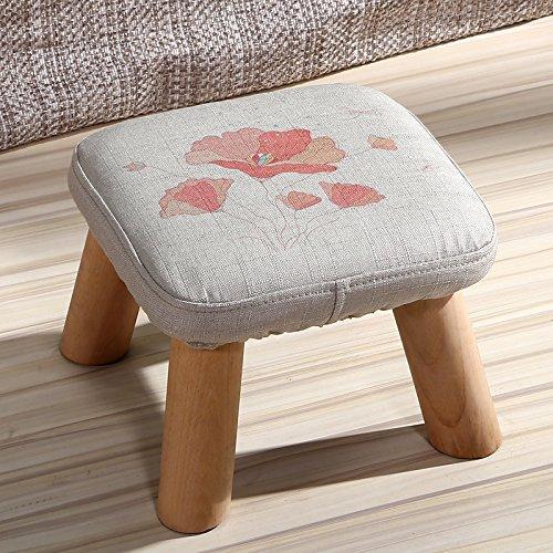 Dana Carrie En d'autres selles banc de chaussures sur une table basse tabouret bas en bois massif et tissus adultes enfants créatifs élégante petite chaise canapé tabouret rond, président - fleurs.