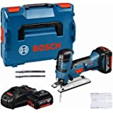 Bosch Professional 18V System Akku-Stichsäge 18V-LI S (GAL 1880 CV, 1 x Stichsägeblatt T 308 BP, 1 x Sägeblatt T 144 DP, 1 x