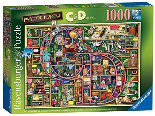Ravensburger Colin Thompson - Awesome Alphabet C & D, 1000 Teile Puzzle