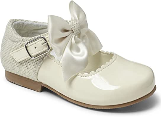 Traditional Patent Girls Bow Shoes Italian Style Toddler Sevva Rollybaby