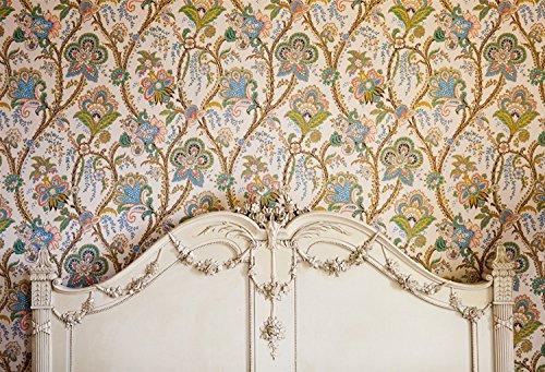 Weiße Holz-schlafzimmer-kopfteil (HUAYI 5X7ft Luxus Innen Kopfteil Fotografie Hintergrund YJ-224)