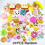ZHUOTOP 20pcs Random Colorful Lifelike Bread Soft Squishy Phone Chain Straps