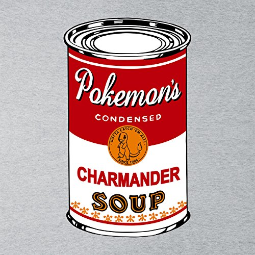 Pokemon Pop Soup Can Fire Edition Men's T-Shirt Heather Grey