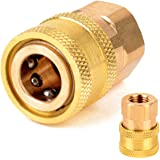 STARQ® Brass Adapter (Quick Release Coupling) M14 to 1/4 inch for Foam Lance and attachments. Suitable for All Starq…