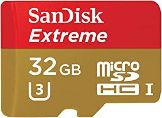 SanDisk Extreme 32GB microSDHC UHS-1 U3 V30 Card with Adapter for Smartphones & Action Cameras