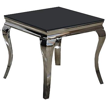 Beistelltisch 60 X 60 X 50 Ina Nachttisch Schwarz Designer Luxus