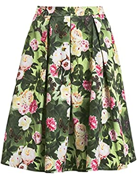 Voodoo Vixen Prim Floral Skirt Falda multicolores