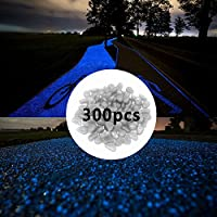 [Patrocinado]SLOMG - Piedras que brillan en la oscuridad (300 unidades) para estanques, jardín, exteriores, acuarios etc.