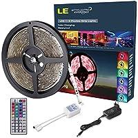 LE 5m 150 LEDs Impermeabile 5050 SMD Striscia RGB Flessibile, Telecomando e Adattatore Inclusi - 3 Strisce