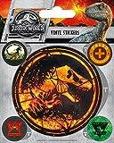 Jurassic Park World Fallen kingdom-logo sticker in vinile, multicolore, 10x 12.5cm