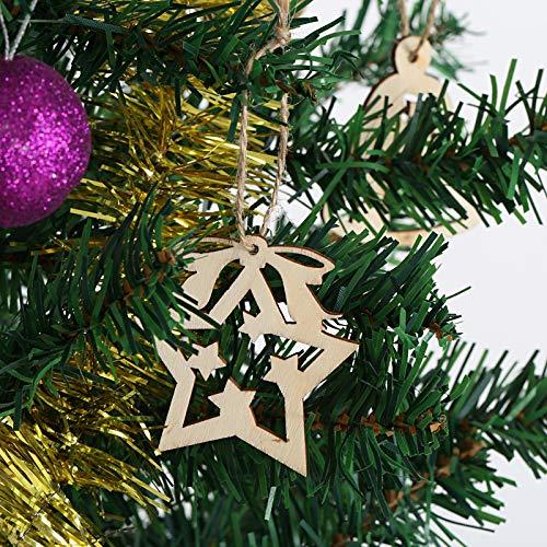 26baaa70f29 Kesote 30 Adornos Colgantes de Madera para Árbol de Navidad 21 Piezas.