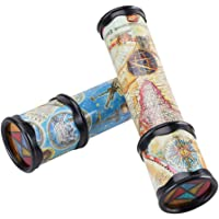 2pcs Classic Magic Kaleidoscope Toy Novelty Games Toy Educational Toys for Kids Children (Random Color)