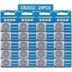 LAPROBING Batterie au Lithium (CR 2032, Blister DE 20 Piles Lithium 3V) (CR2032(20 Piles))