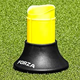 FORZA Tee de Rugby Télescopique Ajustable et Extensible (Noir et Jaune) [Net World Sports]