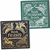 The Book of Beasts and Prehistoric Beasts Colour and Discover Colouring 2 Books Collection