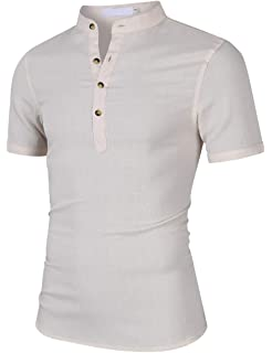 Corriee Mens Fashion Zip Up Shirts Casual Short Sleeve Solid Color Slim Fit T Shirt Mens Summer Top Blouses Plus Size