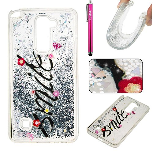 Price comparison product image LG Stylo 2 LS775 Case, Firefish Slim Dynamic Flowing [Anti-Slip] Flexible TPU [Scratch Resistances] Protective Cover for Girls Children Fits for LG Stylo 2 LS775 -Smile