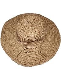 Femmes Grande Paille Large Bord Chapeau de Soleil Pliable De Plage De Vacances pour Eté