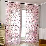 Mikolot Primrose Garn Tüll Vorhang Living Fenster Vorhang Screening für Home Decor Rose