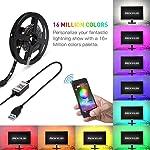 Andoer 2m LED Color Changing Strip Lights,TV Backlight USB RGB Strip Light with BT Smartphone APP Controller Tape Strip...