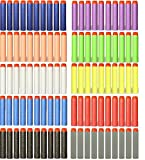HXY 100 Pcs 7.2cm 10 Colours Foam Darts for Nerf N-strike Elite Series Blasters Toy Gun