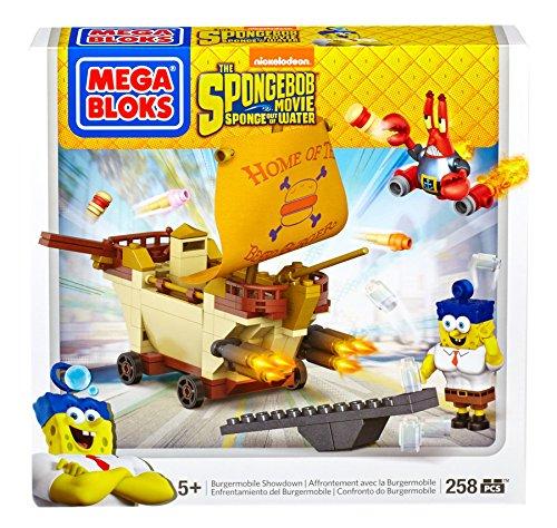 Mattel Mega Bloks CND25 Spongebob Squarepants - Movie Burger Mobile (Food Truck-zubehör)