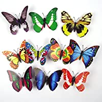 Meena Supplies Magnetic Artificial Butterflies In 3 sizes Decorative Picks (Large 8 Pices)