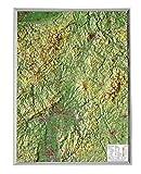 Relief Hessen klein 1:700.000 Holzrahmen