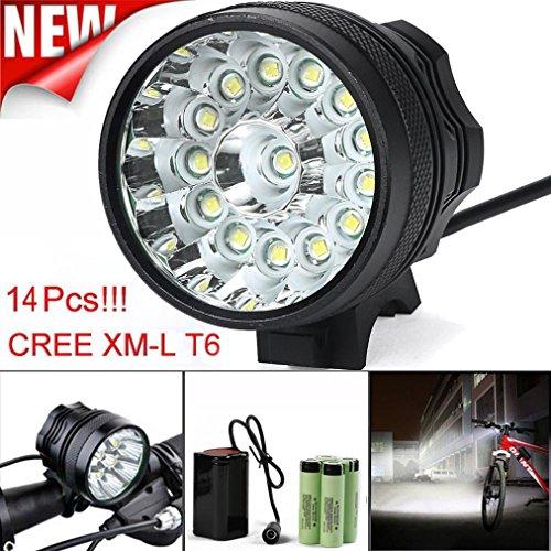 Preisvergleich Produktbild HCFKJ 34000LM 14 X CREE XM-L T6 LED 6 x 18650 Fahrrad Radfahren Wasserdichte Wärmeschubladen Lampe