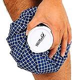Neotech Care - Sacca per ghiaccio - lesioni, gonfiore, mal di testa, sollievo dal dolore, primo soccorso - coperchio superiore a vite per cold pack - riutilizzabile e flessibile (Blu, 28cm)