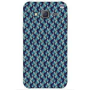 Blue & Lavender Design - Mobile Back Case Cover For Samsung Galaxy J7 (2015)