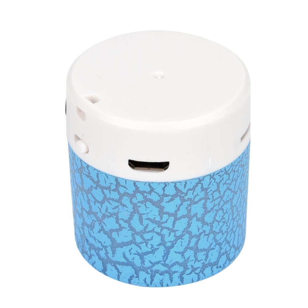 Portable mini wireless stereo Bass altoparlanti lettore musicale wireless TF speaker by Mml, Blue