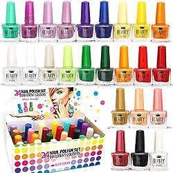 beauty4britain, Conjunto de esmalte de uñas 45+ colores diferentes, botella moderna 5ML