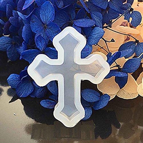 Preisvergleich Produktbild Republe Kreuz Silikon-Form-Form für Epoxidharz-Schmucksache-Korn-Anhänger,  die DIY Fertigkeit
