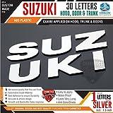 #4: CarMetics Suzuki 3D Letters for Maruti Suzuki Ertiga Silver Color 1 Set