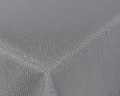 Amaris Lotus Jacquard Tischdecke für Heim und Garten, wasserabweisend, schwarz/weiß, Größe wählbar von Beautex bei Gartenmöbel von Du und Dein Garten
