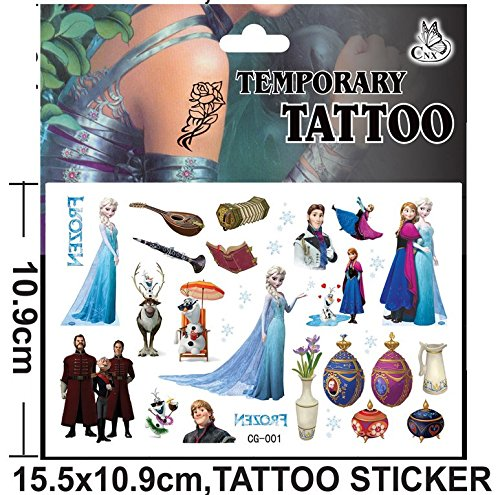 Inception Pro Infinite (Cg - 001) - Tattoo - Sticker - Gefälscht - Temporär - Charaktere - Cartoons - Sticker - Blatt - Anna - ELSA - Frozen