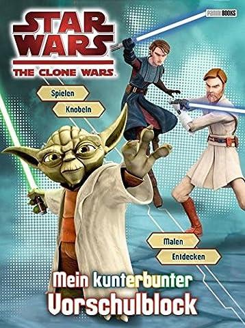 Star Wars The Clone Wars Vorschulblock: Mein kunterbunter Vorschulblock